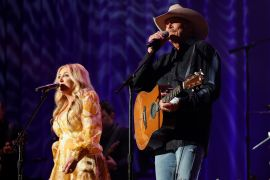Lee Ann Womack, Alan Jackson; Photo by Getty Images for ACM