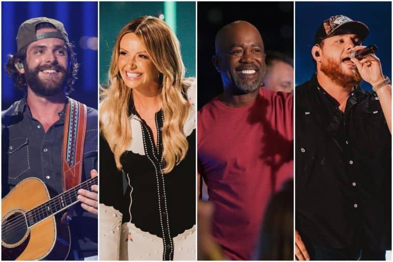Thomas Rhett, Carly Pearce, Darius Rucker, Luke Combs; Photos Courtesy CMA