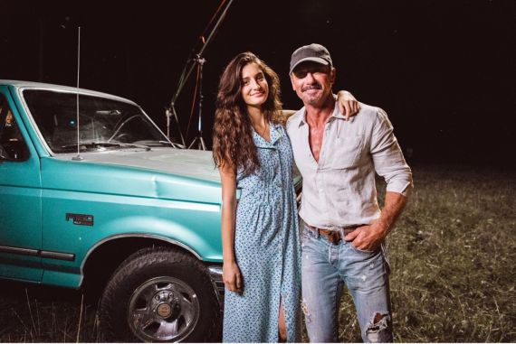 Tim McGraw and Daughter, Audrey; Photo by Nick Rau