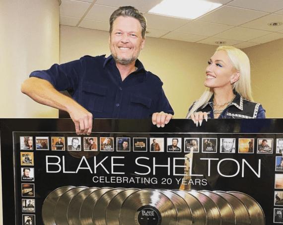 Blake Shelton and Gwen Stefani; Photo via Instagram