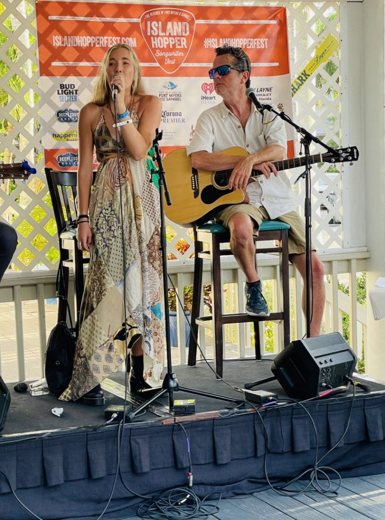 Chloé Caroline & Jim McCormick at Island Hopper Songwriters Fest