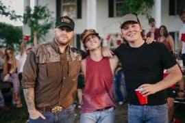 Jon Langston, Noah Hicks, Travis Denning; Photo by Sam Shelton