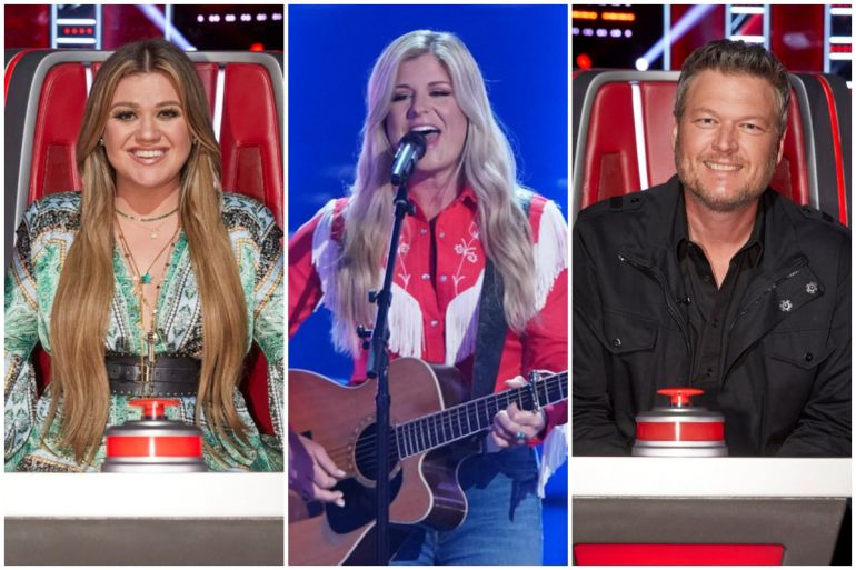 Kelly Clarkson, Kinsey Rose, Blake Shelton