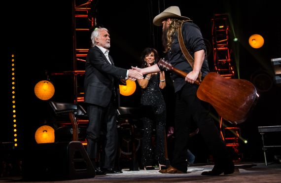 Kenny Rogers and Chris Stapleton; Photo Courtesy of CBS