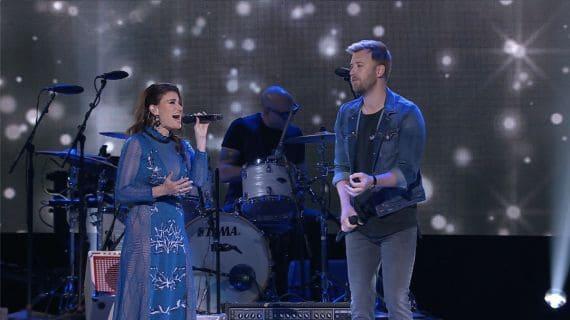 Idina Menzel & Lady A's Charles Kelley; Photo Courtesy of CBS