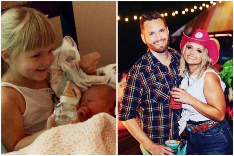 Miranda Lambert, brother Luke; Photos via Instagram