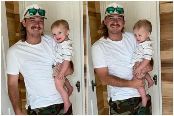 Morgan Wallen with Son, Indie
