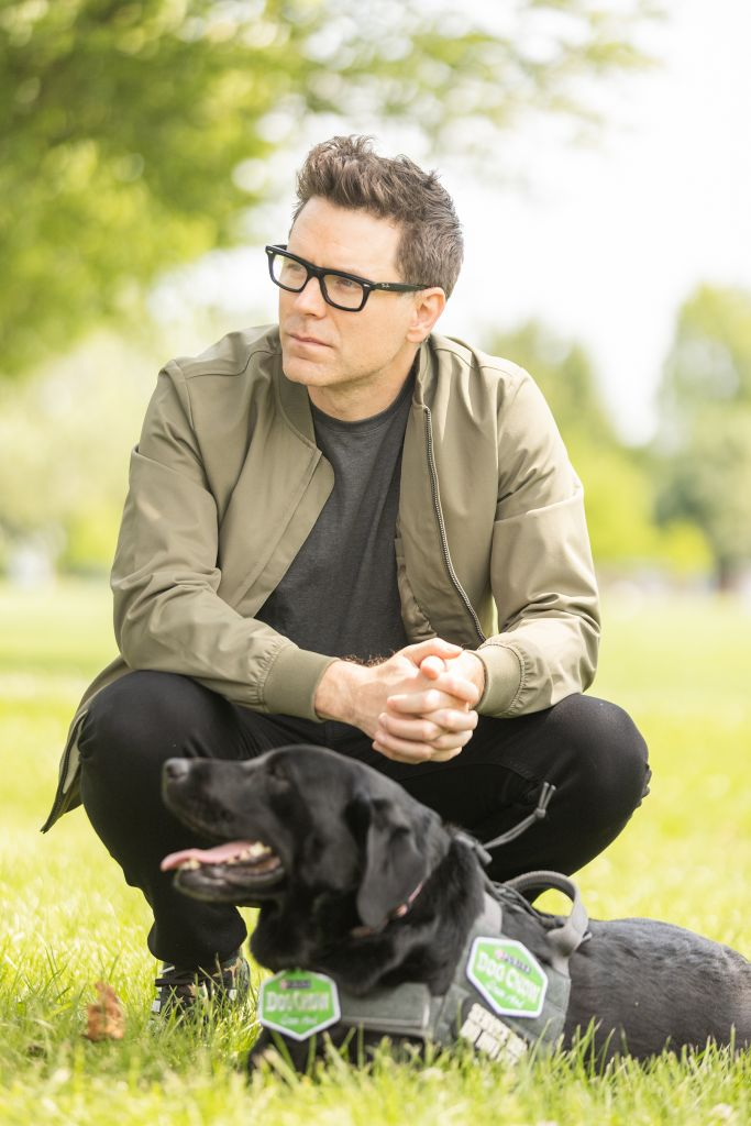 Dog Chow partner and TV/radio personality Bobby Bones participates in the fourth annual Dog Chow Service Dog Salute campaign