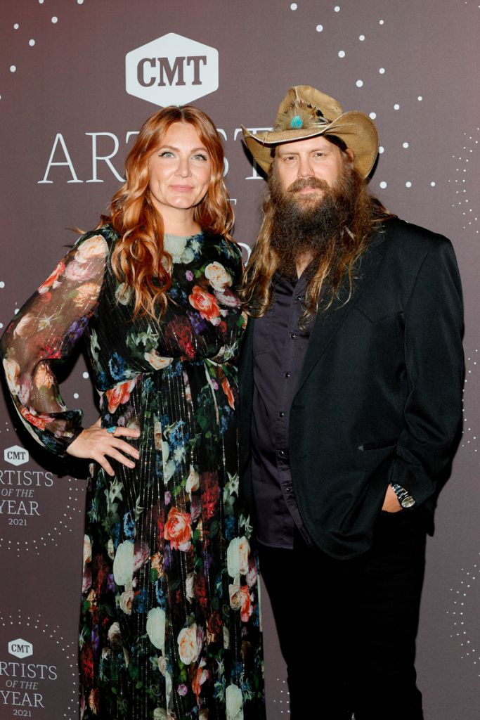 Chris Stapleton & wife Morgane; Photo Courtesy Getty Images for CMT