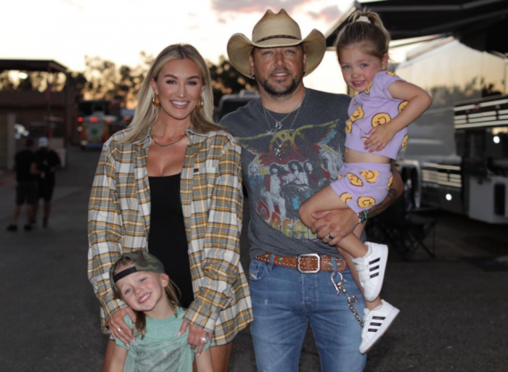 Brittany Aldean and Jason Aldean with Family; Photo via Instagram