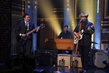 Jimmy Fallon, Chris Stapleton; Photo by Sean Gallagher, NBC