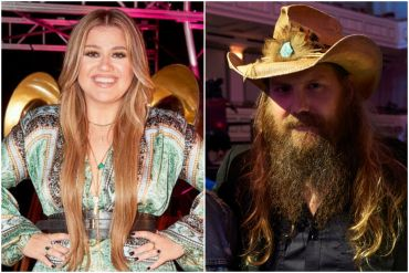 Kelly Clarkson; Photo via NBC, Chris Stapleton; Photo by Getty Images for CMT
