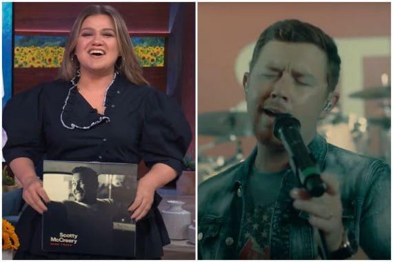 Kelly Clarkson, Scotty McCreery; Photos via YouTube