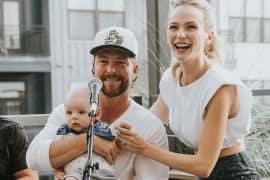 Lauren Lane, Chris Lane, Dutton Walker; Photo via Instagram