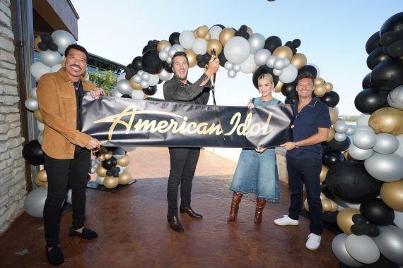 Lionel Richie, Luke Bryan, Katy Perry, Ryan Seacrest; Photo Courtesy American Idol